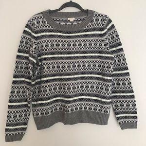 J. Crew fair isles sweater